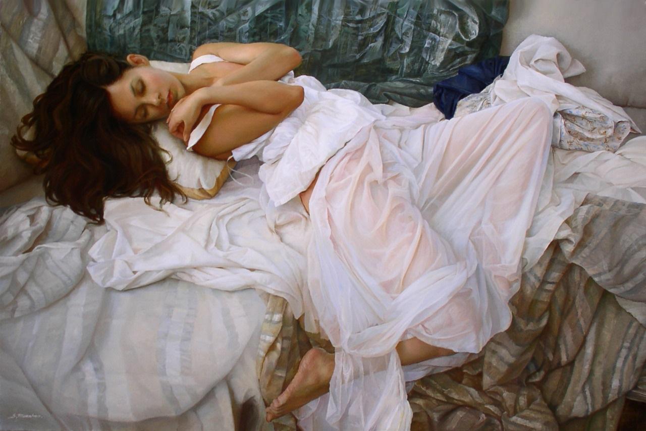 Women's images by a Russian realist artist Sergey Marshennikov - 05