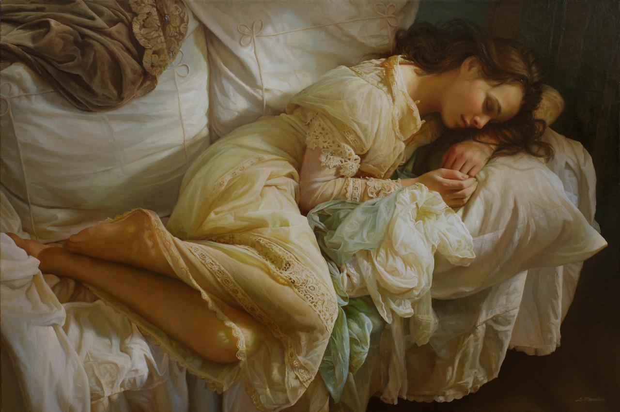Women's images by a Russian realist artist Sergey Marshennikov - 06