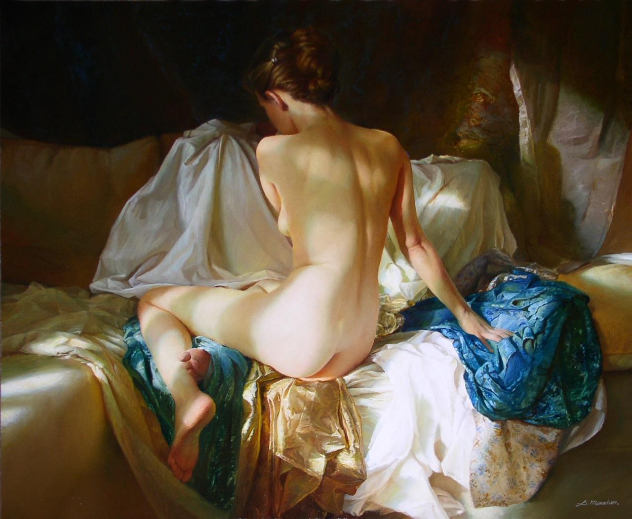 Women's images by a Russian realist artist Sergey Marshennikov - 07