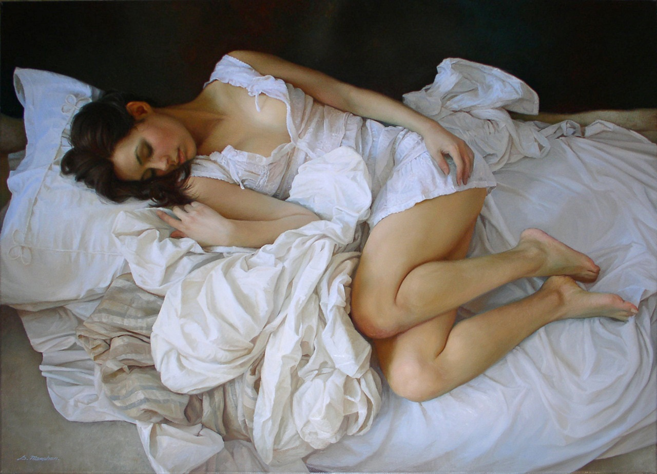 Women's images by a Russian realist artist Sergey Marshennikov - 09