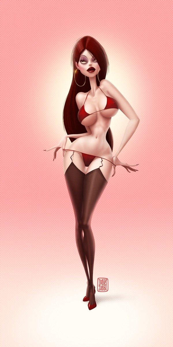 Pin-up illustration