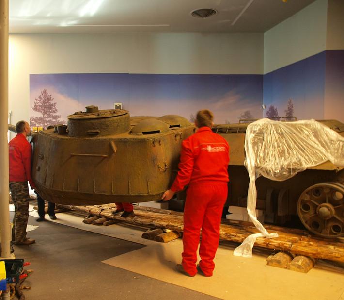 A great Soviet tank T-34 of the World War II made from polyfoam - 01