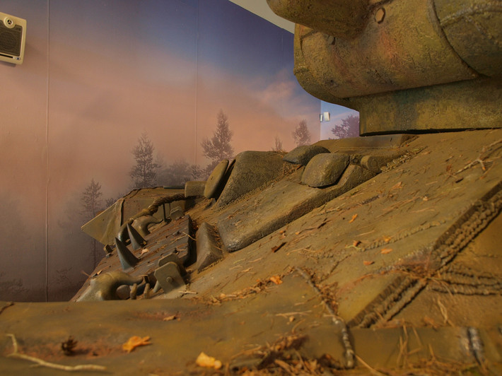 A great Soviet tank T-34 of the World War II made from polyfoam - 10