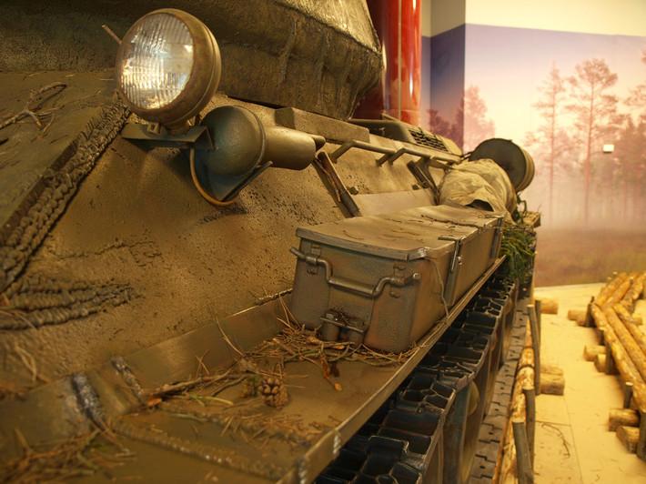 A great Soviet tank T-34 of the World War II made from polyfoam - 11