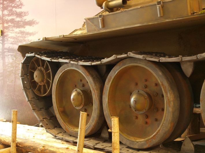 A great Soviet tank T-34 of the World War II made from polyfoam - 12