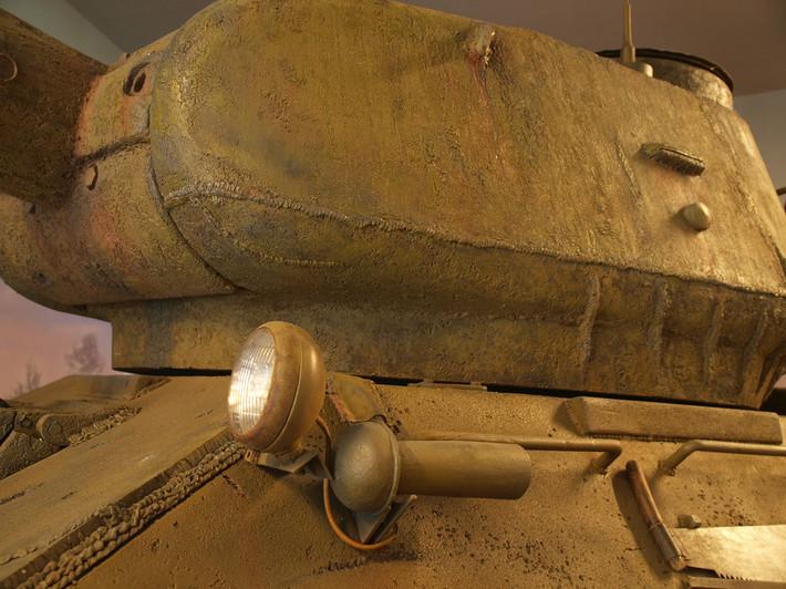 A great Soviet tank T-34 of the World War II made from polyfoam - 04