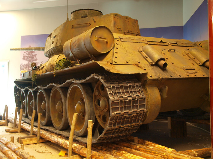 A great Soviet tank T-34 of the World War II made from polyfoam - 07