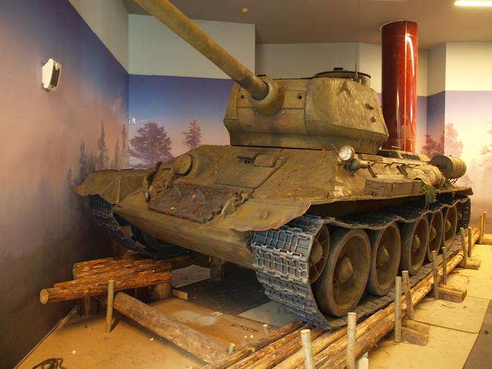 A great Soviet tank T-34 of the World War II made from polyfoam - 08