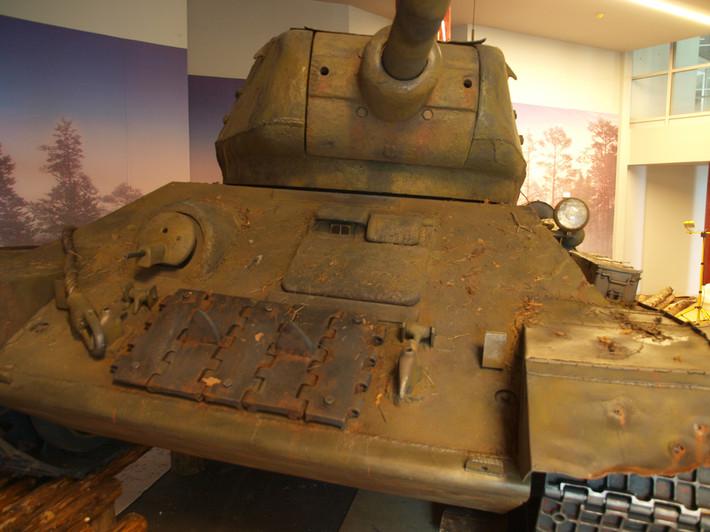 A great Soviet tank T-34 of the World War II made from polyfoam - 09