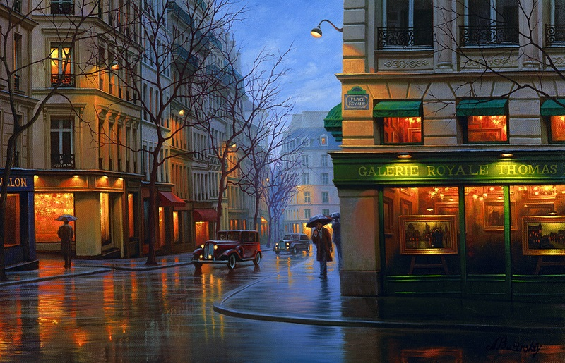 Pensive mood: Night cityscapes by a Russian artist Alexey Butyrsky - 01
