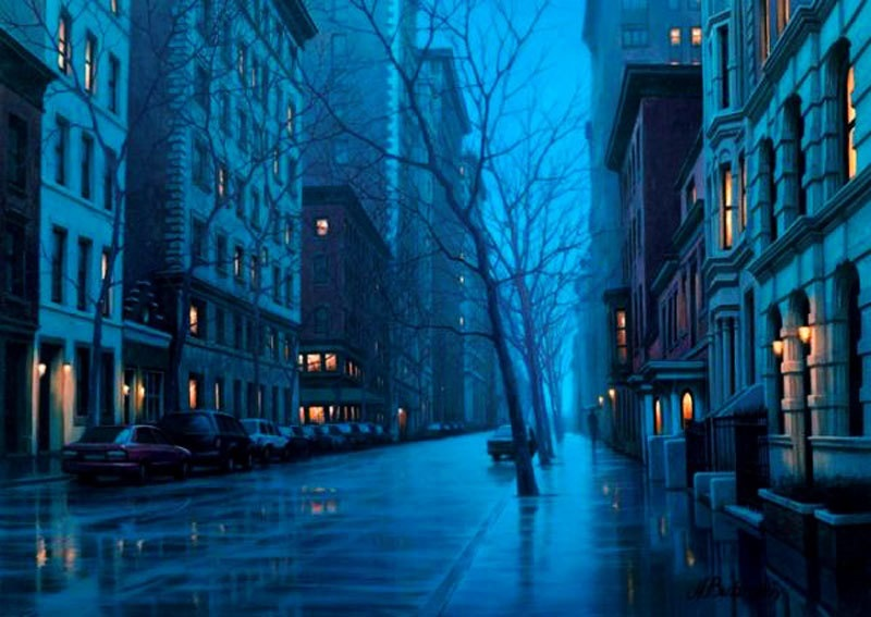 Pensive mood: Night cityscapes by a Russian artist Alexey Butyrsky - 15