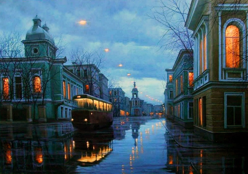 Pensive mood: Night cityscapes by a Russian artist Alexey Butyrsky - 16