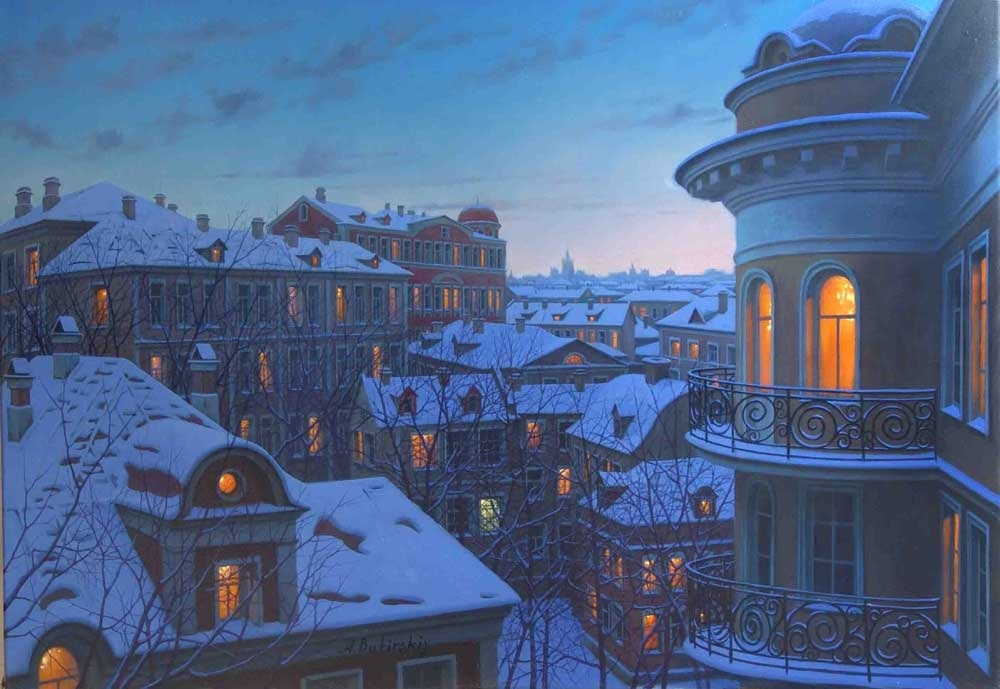 Pensive mood: Night cityscapes by a Russian artist Alexey Butyrsky - 48