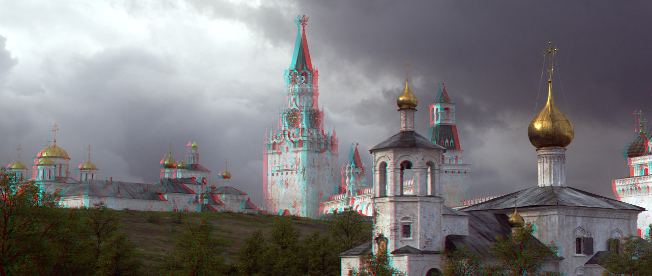 Reconstruction: White Moscow Kremlin and the Red Square in 1800 - 17