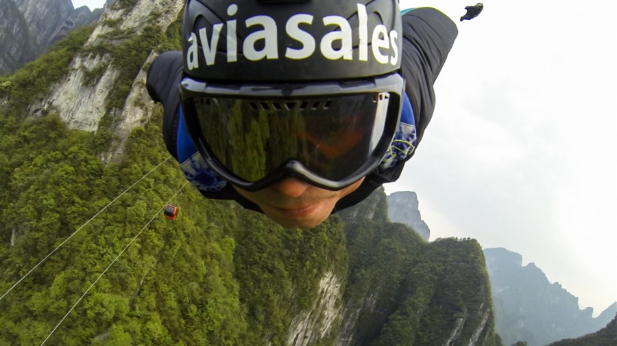 Russian BASE jumping: Flying from the Avatar mountains in China - 05