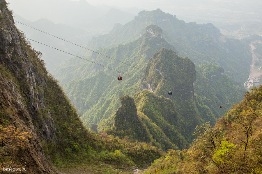 Russian BASE jumping: Flying from the Avatar mountains in China - 06