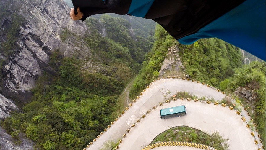 Russian BASE jumping: Flying from the Avatar mountains in China - 07