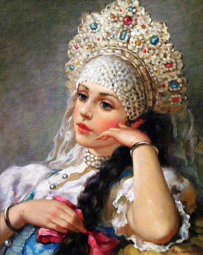 Russian princess: Pictures by a Russian artist Vladislav Nagornov - 10