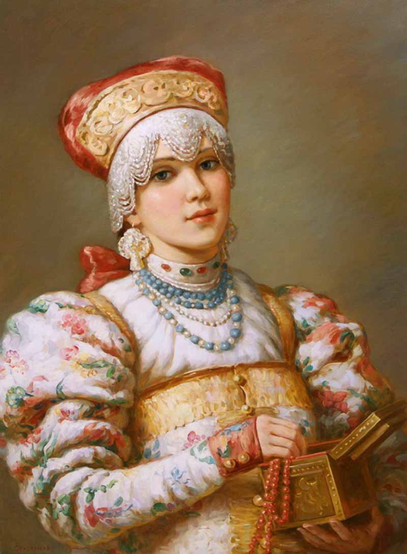Russian princess: Pictures by a Russian artist Vladislav Nagornov - 02