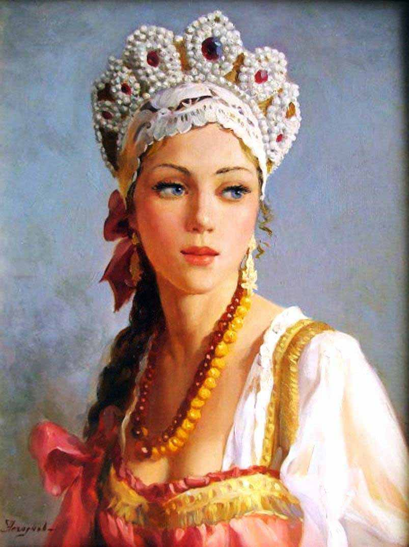 Russian princess: Pictures by a Russian artist Vladislav Nagornov - 09