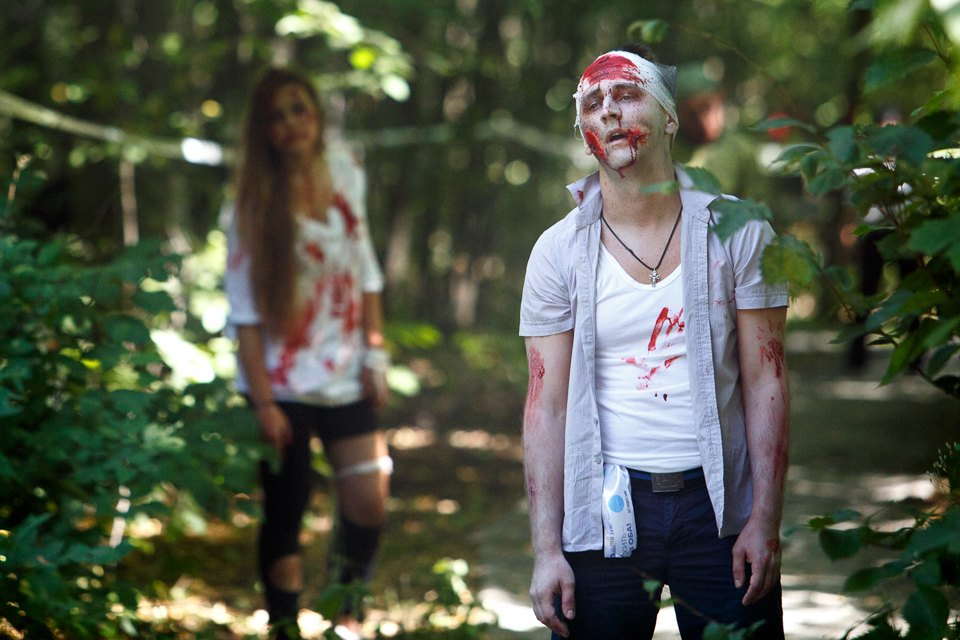 Enchanted race: Zombie attack in the Sokolniki Park in Moscow - 12