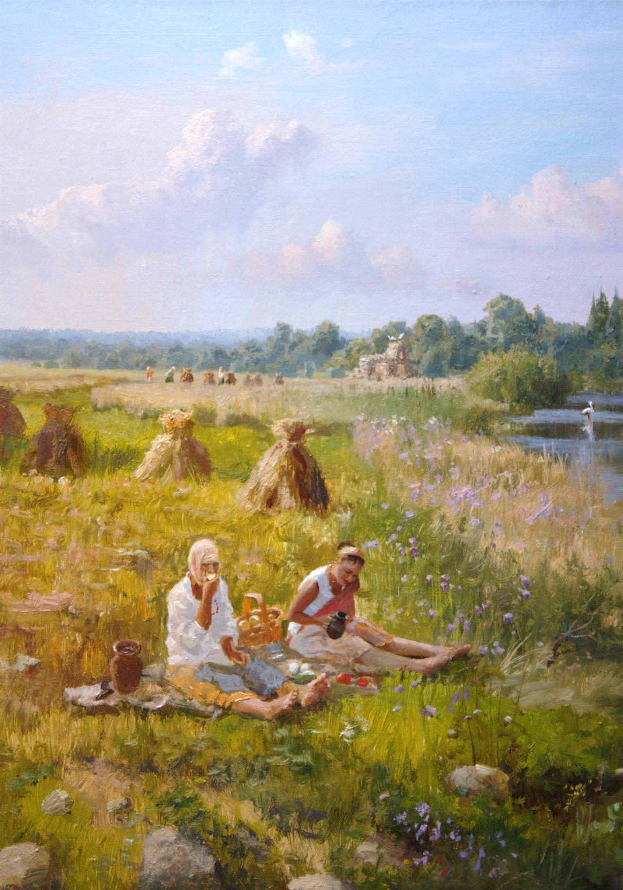 Russian soul: Pictures of Russian peasant life by Vladimir Zhdanov - 17