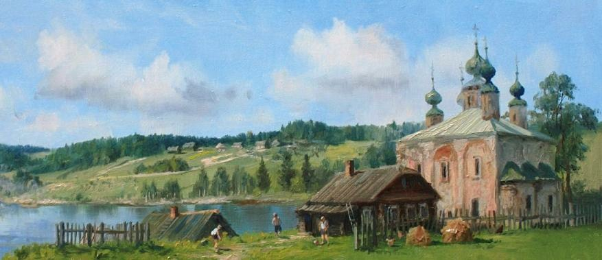Russian soul: Pictures of Russian peasant life by Vladimir Zhdanov - 34