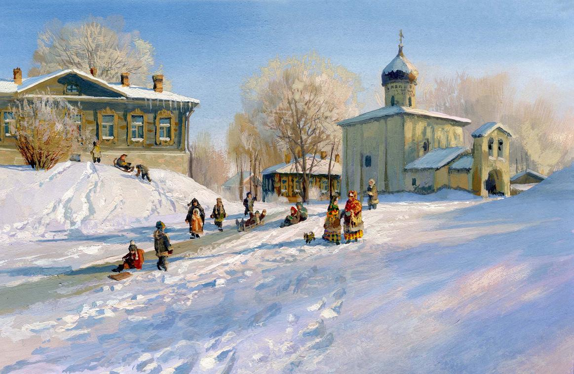 Russian soul: Pictures of Russian peasant life by Vladimir Zhdanov - 56