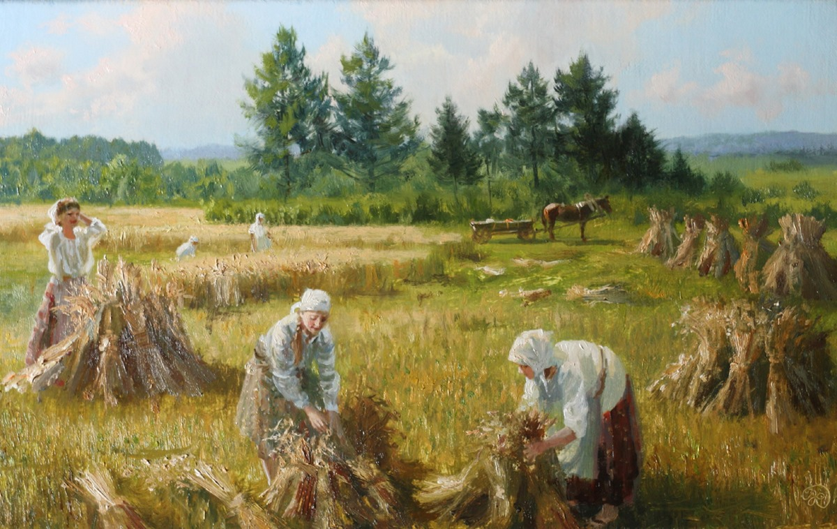 Russian soul: Pictures of Russian peasant life by Vladimir Zhdanov - 73