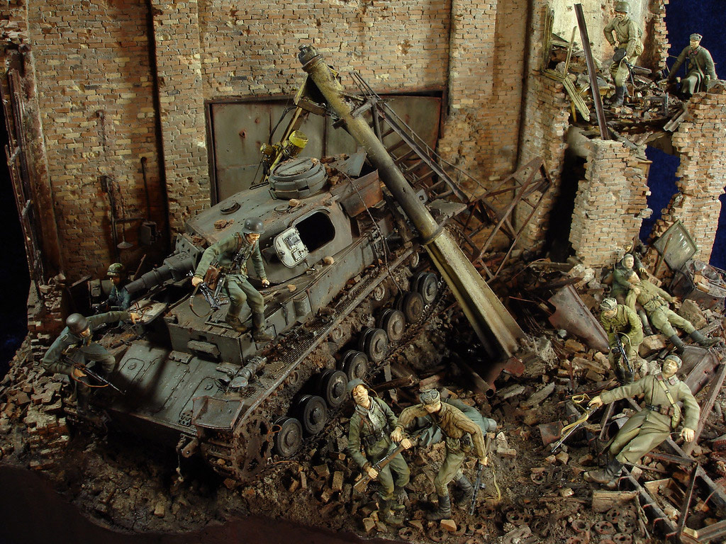 Stalingrad - Berlin: Double model of two moments of World War II - 01