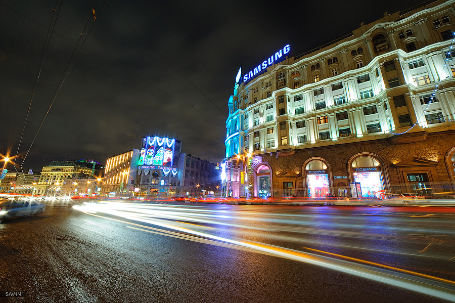 Night Moscow: Brilliant lights of the winter capital city of Russia - 12