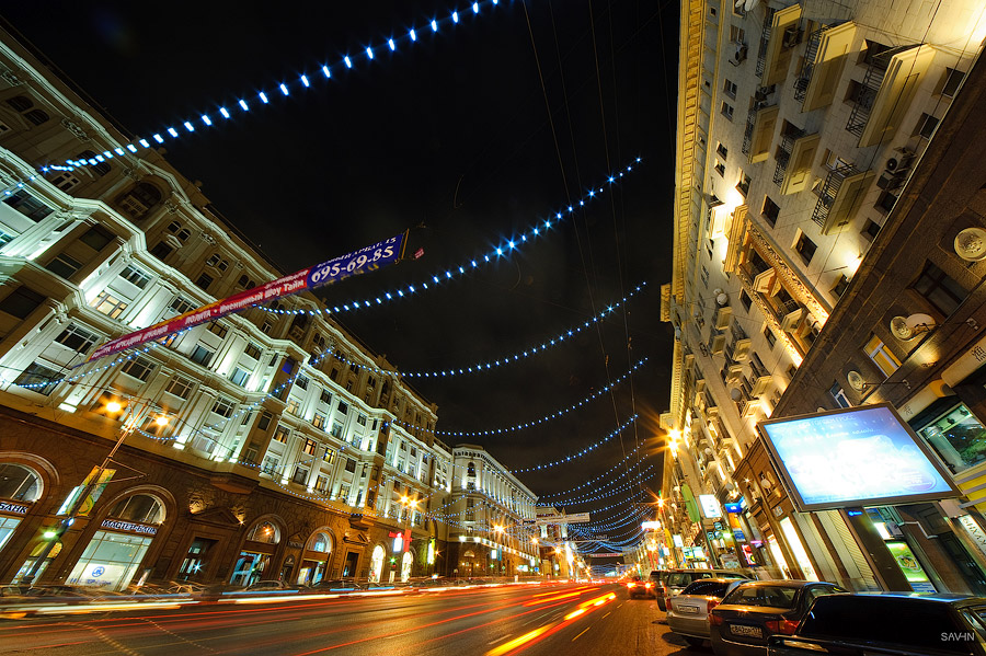 Night Moscow: Brilliant lights of the winter capital city of Russia - 13
