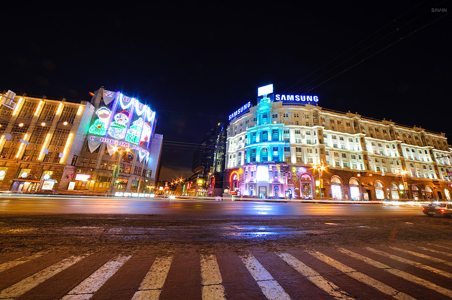 Night Moscow: Brilliant lights of the winter capital city of Russia - 14