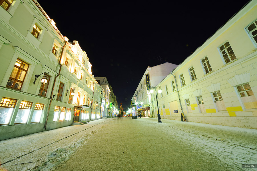 Night Moscow: Brilliant lights of the winter capital city of Russia - 20