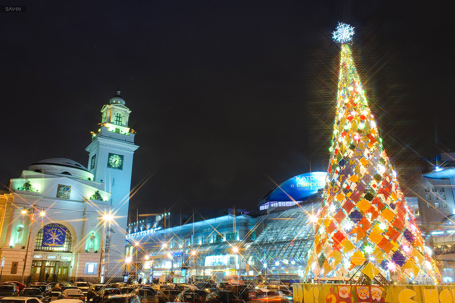 Night Moscow: Brilliant lights of the winter capital city of Russia - 22