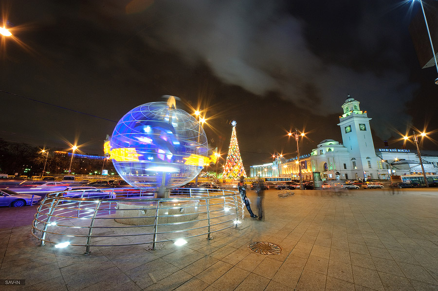 Night Moscow: Brilliant lights of the winter capital city of Russia - 23