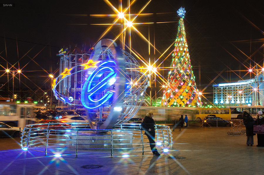 Night Moscow: Brilliant lights of the winter capital city of Russia - 24