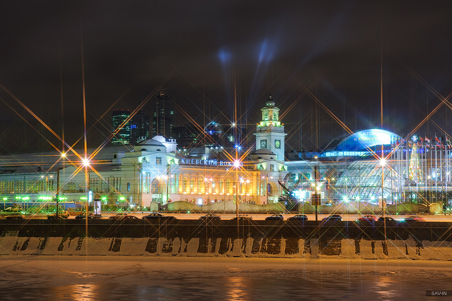 Night Moscow: Brilliant lights of the winter capital city of Russia - 26