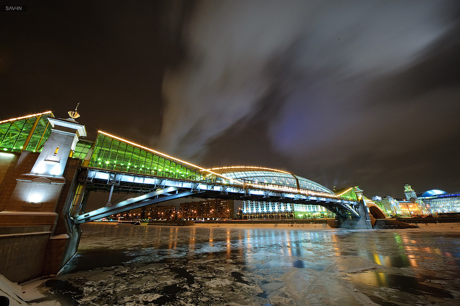Night Moscow: Brilliant lights of the winter capital city of Russia - 27