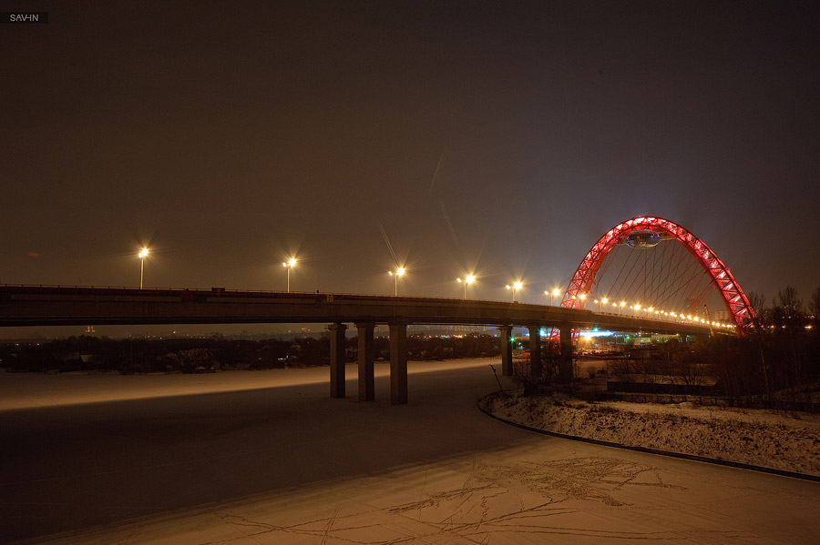 Night Moscow: Brilliant lights of the winter capital city of Russia - 34