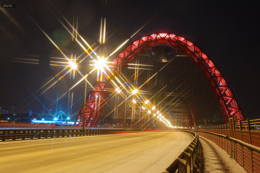 Night Moscow: Brilliant lights of the winter capital city of Russia - 35