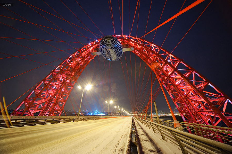 Night Moscow: Brilliant lights of the winter capital city of Russia - 36