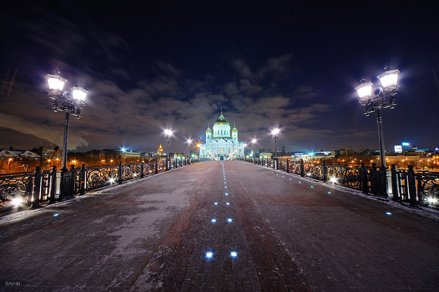 Night Moscow: Brilliant lights of the winter capital city of Russia - 42
