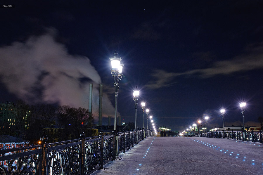 Night Moscow: Brilliant lights of the winter capital city of Russia - 46
