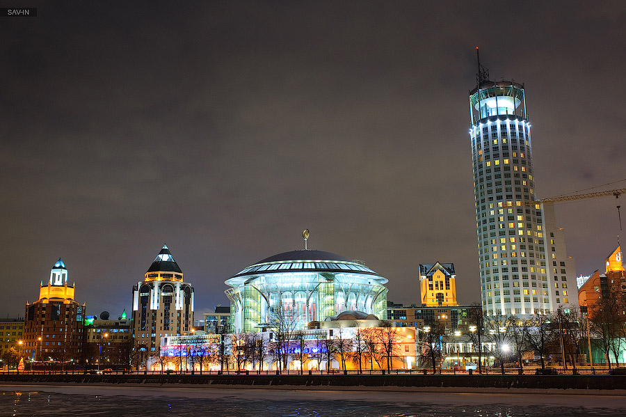 Night Moscow: Brilliant lights of the winter capital city of Russia - 48