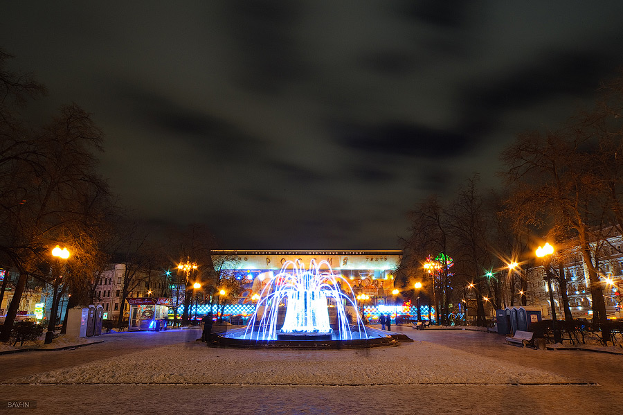 Night Moscow: Brilliant lights of the winter capital city of Russia - 05