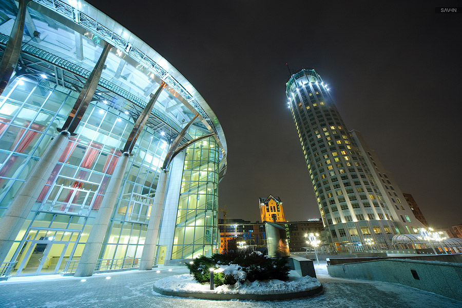 Night Moscow: Brilliant lights of the winter capital city of Russia - 50