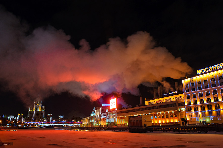 Night Moscow: Brilliant lights of the winter capital city of Russia - 51