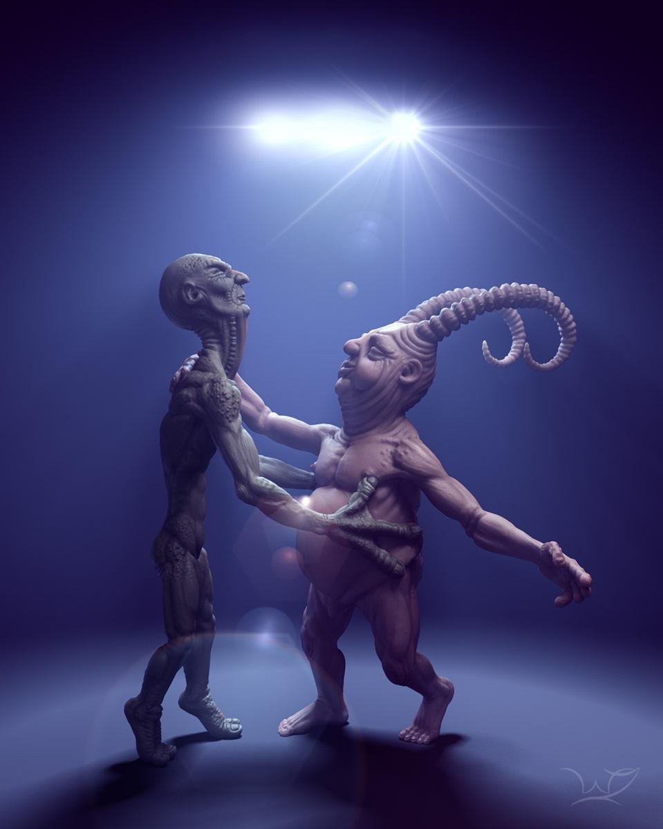 Dancing demons