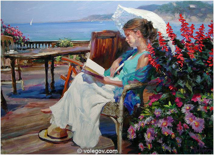 Sensitive images: Women by a Russian painter Vladimir Volegov - 12